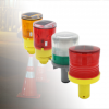 solar traffic cone warning lights